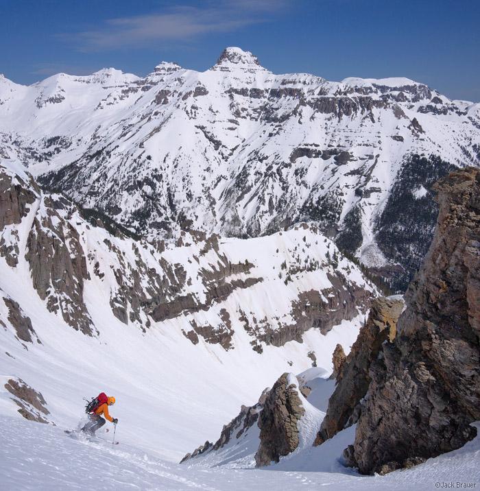 Skiing United States Mountain near Ouray, Colorado