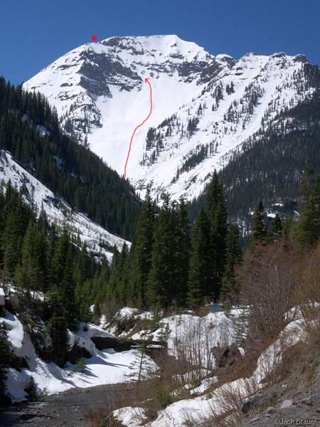 United States Mountain near Ouray, Colorado