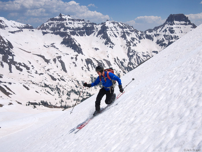 Skiing in the San Juan Mountains, Colorado in June