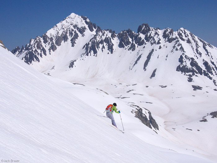 Skiing in June in the San Juans, Colorado