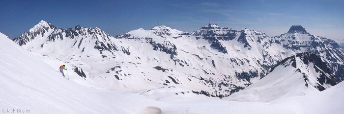 Skiing in June in the San Juans, Colorado