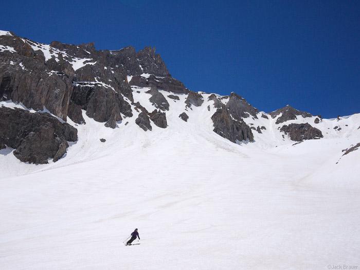 Skiing into Weehawken Basin
