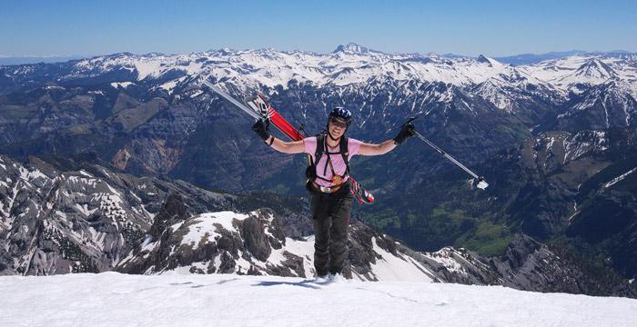 On the summit of Potosi Peak, San Juan Mountains, Colorado