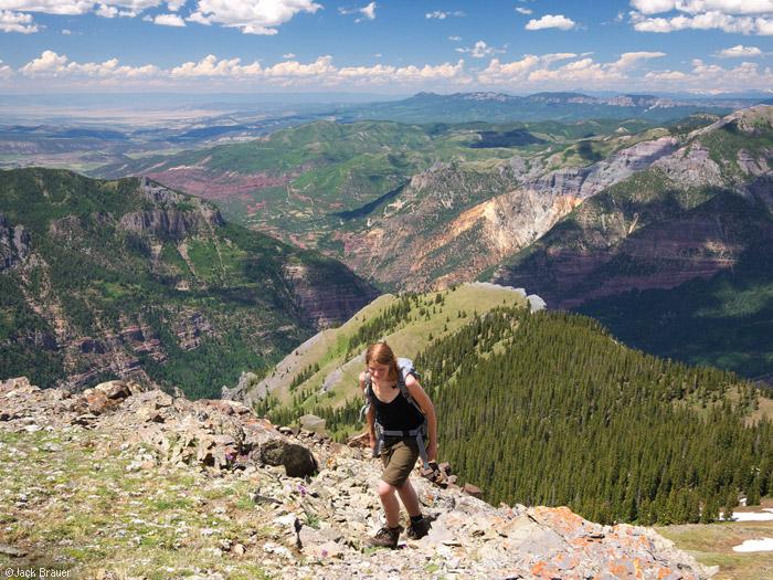 Hiking Hayden Mountain, Ouray, Colorado