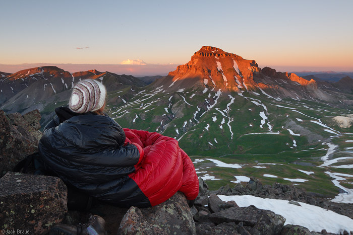 A sleeping bag with a view