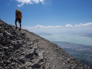 Hiking up Mt. Timpanogos, Utah