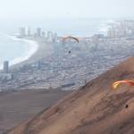 Paragliding above Iquique, Chile