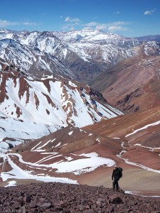 Hiking above Penitentes, Argentina