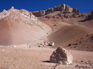 Martian landscape near Penitentes, Argentina