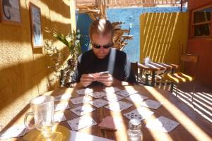 Playing cards in San Pedro de Atacama, Chile