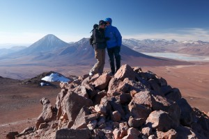 On the summit of Cerro Toco, above the Atacama, Chile
