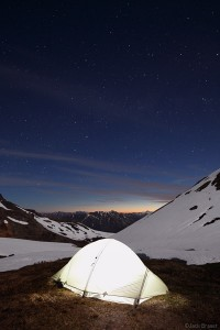 Stars and tent