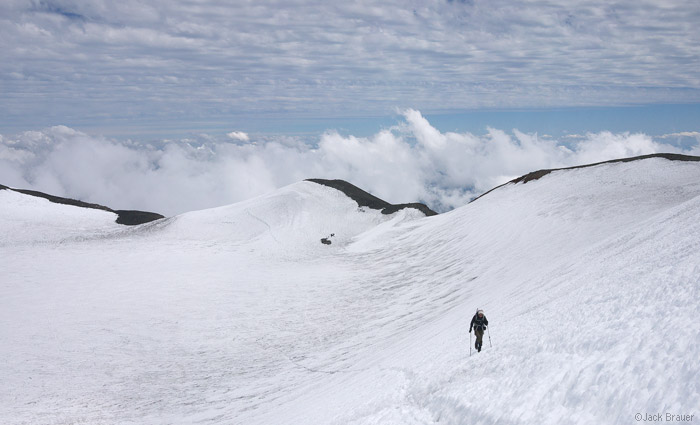 Volcán Nevado crater, Chile