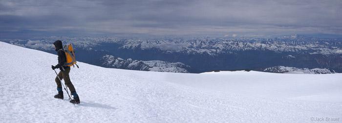 Summit ridge of Volcán Nevado, Chile