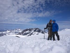 Vulcan Nevado summit portrait, Chile