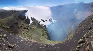 Smoking crater of Vulcan Villarrica, Pucón, Chile