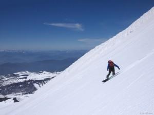 Snowboarding Vulcan Villarrica, Pucón, Chile