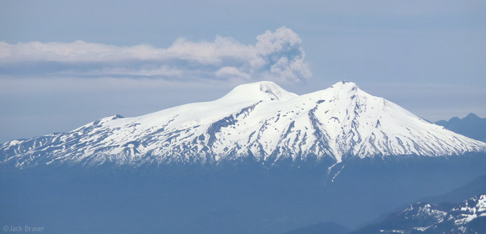 Puyehue volcano as seen from Vulcan Villarrica, Chile