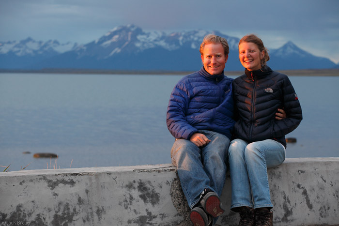 Jack and Claudia in Puerto Natales, Chile