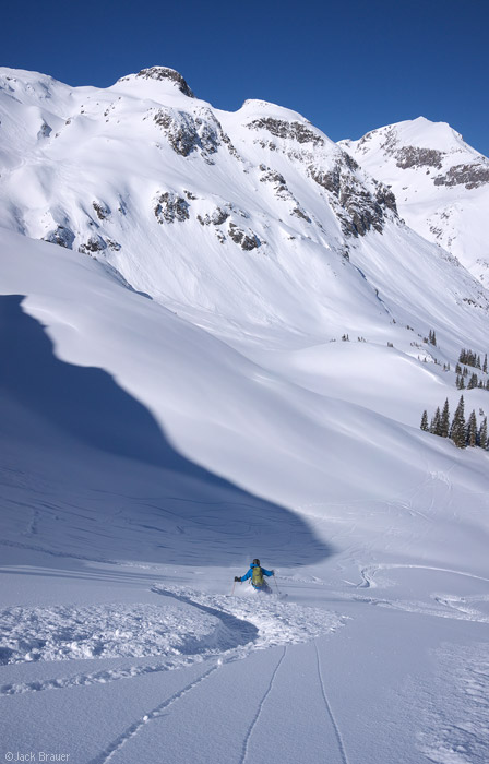 Backcountry skiing in the San Juans, Colorado