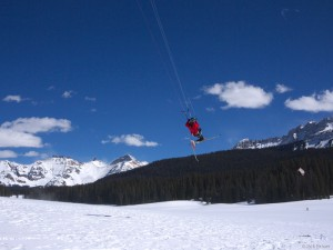 Snowkiting in Colorado