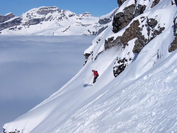 Snowboarding Engelberg Switzerland