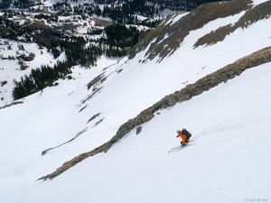 Spring backcountry skiing in the San Juan Mountains, Colorado