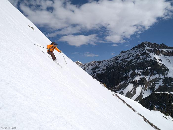 Spring backcountry skiing in the San Juan Mountains, Colorado