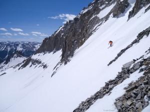 Skiing Gilpin Peak, San Juans, Colorado