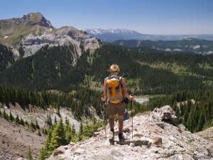 Hiking down Precipice Peak, Colorado