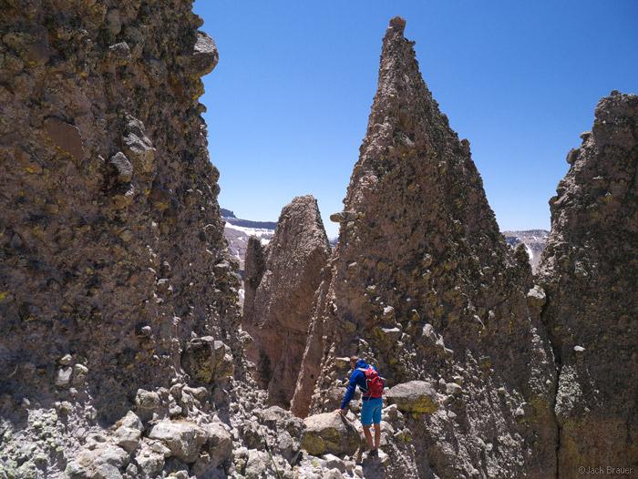 The notch on Precipice Peak, Colorado