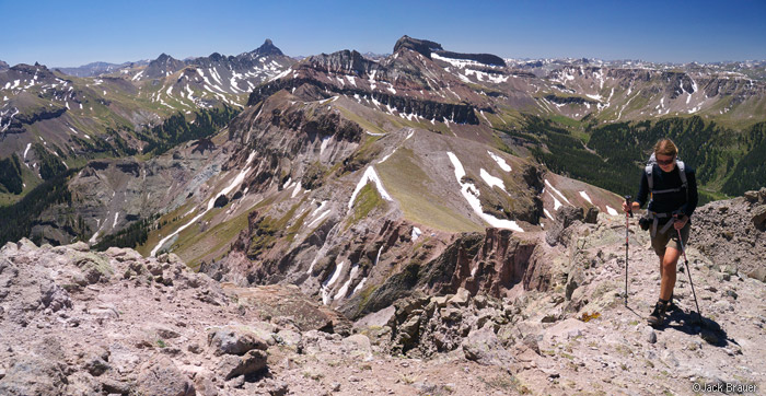 Hiking to the summit of Precipice Peak, Colorado
