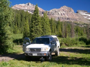 Car camping in the West Fork, Cimarrons, Colorado