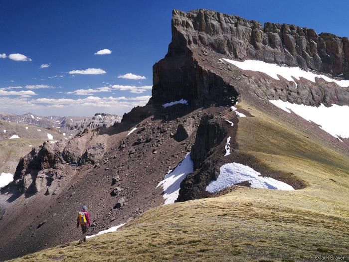 Hiking below Coxcomb Peak, San Juans, Colorado
