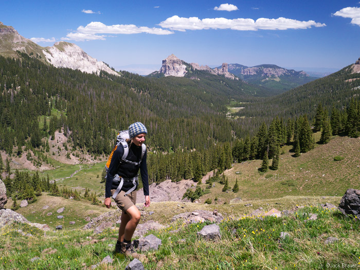Hiking in the West Fork of the Cimarrons, Colorado