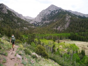 Hiking into Willow Creek, Sangre de Cristos, Colorado
