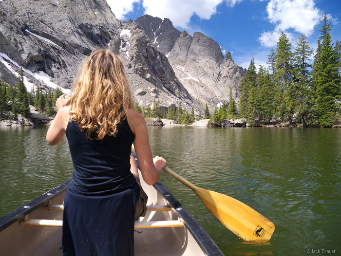 Canoe in Willow Lake, Sangre de Cristos, Colorado