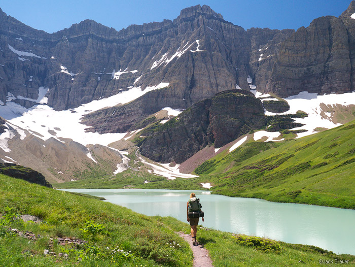 Hiking to Cracker Lake, Glacier National Park, Montana