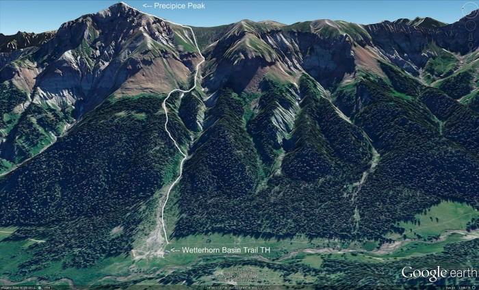 Precipice Peak Route