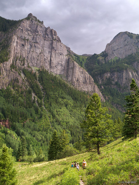 Hiking the Weehawken Trail near Ouray, Colorado