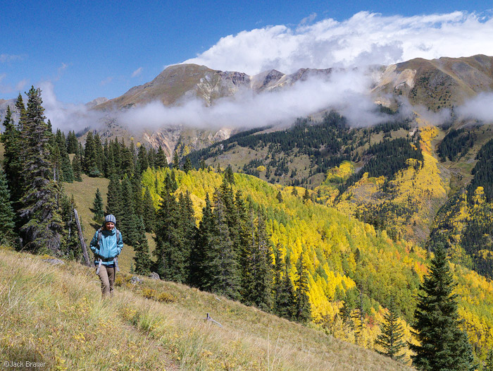Hiking above Red Mountain Pass, Colorado