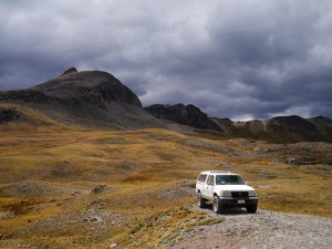 Camping on Stony Pass, San Juan Mountains, Colorado