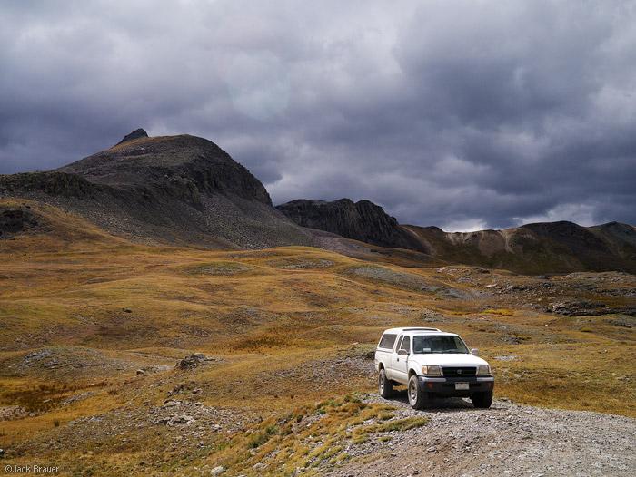 Camping on Stony Pass, San Juan Mountains, Colorado