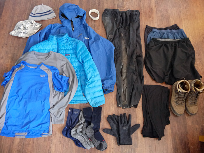 Summer backpacking clothes