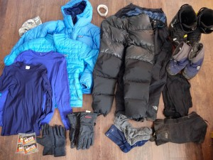 Winter backpacking clothes
