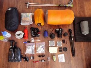 Winter camping gear