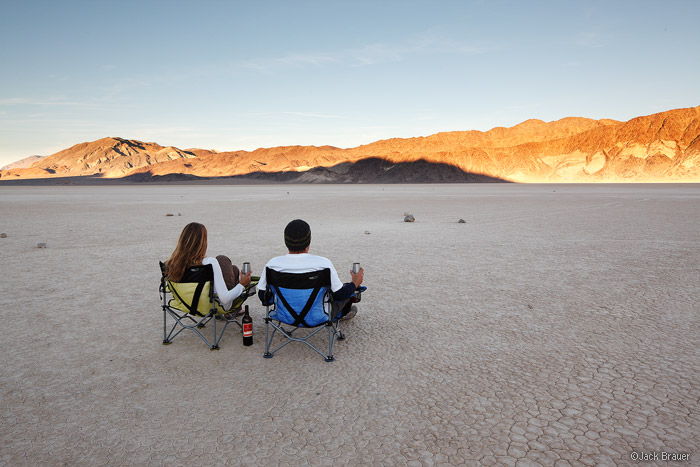 Watching the race at the Racetrack, Death Valley National Park, California