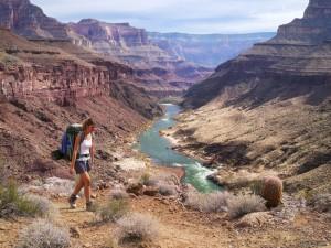 Hiking along the Colorado River.