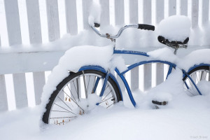 Snowy bicycle in Ouray, Colorado