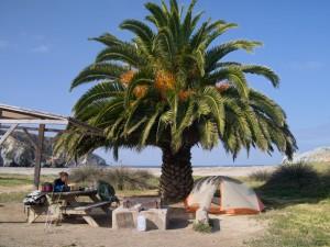 Camping at Little Harbor, Catalina Island